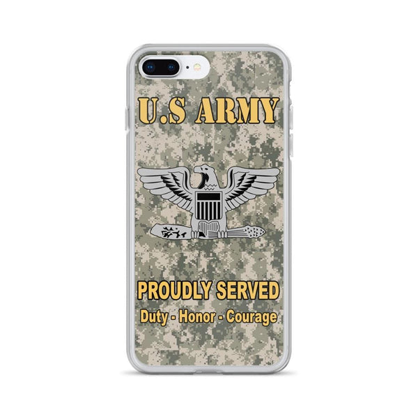 US Army O-6 Colonel O6 COL Field Officer Ranks iPhone Case