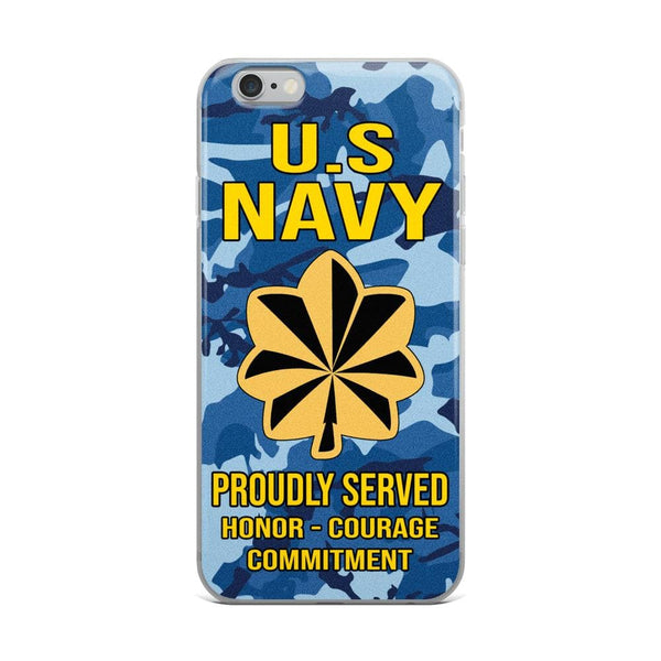 US Navy O-4 Lieutenant Commander O4 LCDR Junior Officer Ranks iPhone Case