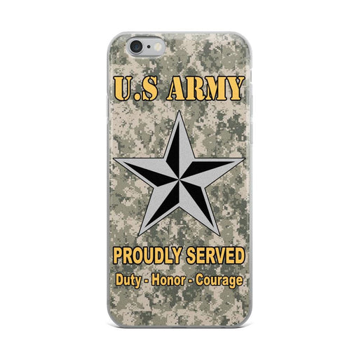 US Army O-7 Brigadier General O7 BG General Officer Ranks iPhone Case