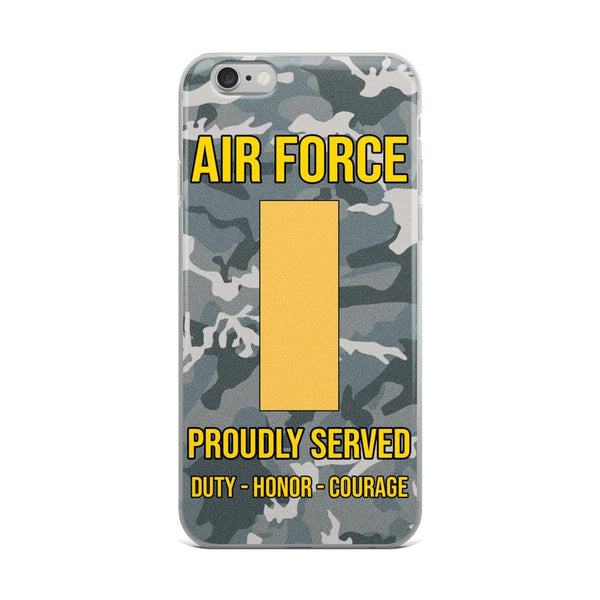 US Air Force O-1 Second Lieutenant 2d Lt O1 Commissioned Officer Ranks iPhone Case