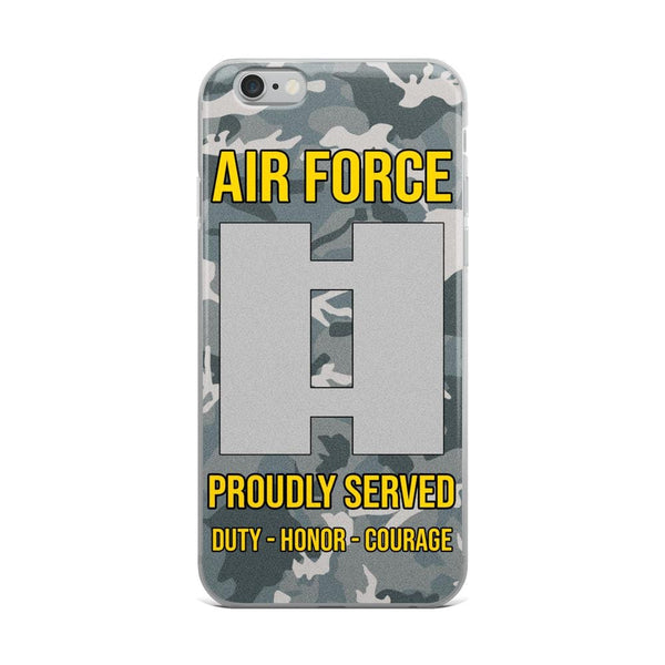 US Air Force O-3 Captain Capt O3 Commissioned Officer Ranks iPhone Case