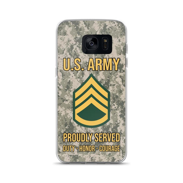 US Army E-6 Staff Sergeant E6 SSG Noncommissioned Officer Ranks Samsung Case