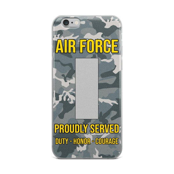US Air Force O-2 First Lieutenant 1st L O2 Commissioned Officer Ranks iPhone Case