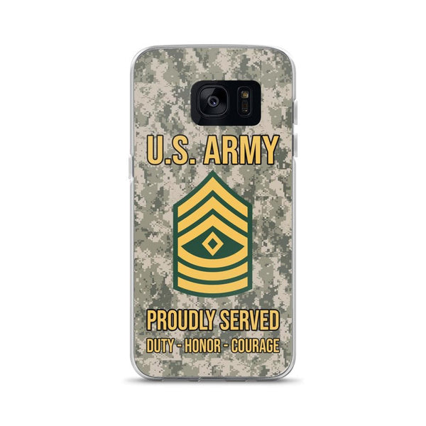 US Army E-8 First Sergeant E8 1SG Noncommissioned Officer Ranks Samsung Case