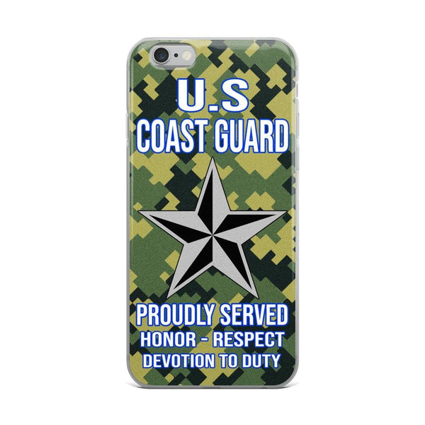 US Coast Guard O-7 Rear Admiral Lower Half O7 DRML Flag Officer Ranks iPhone Case