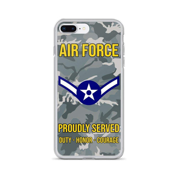 US Air Force E-2 Airman Amn E2 Ranks Enlisted Airman Rank iPhone Case