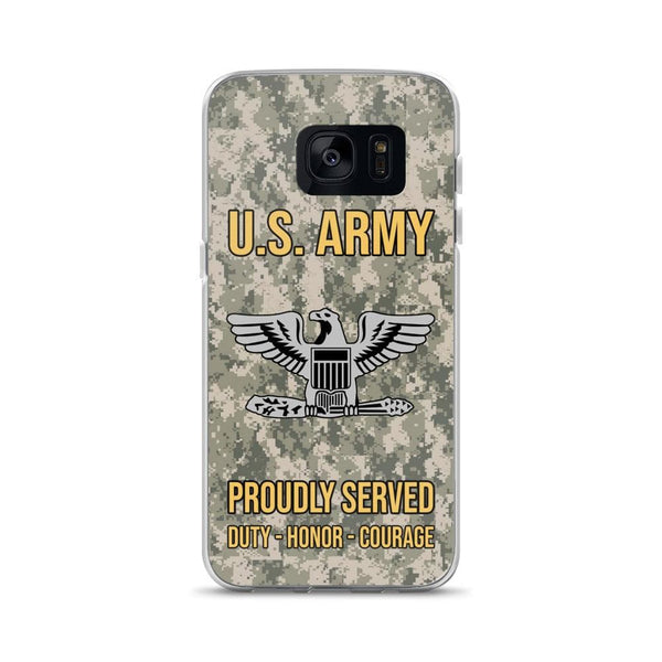 US Army O-6 Colonel O6 COL Field Officer Ranks Samsung Case