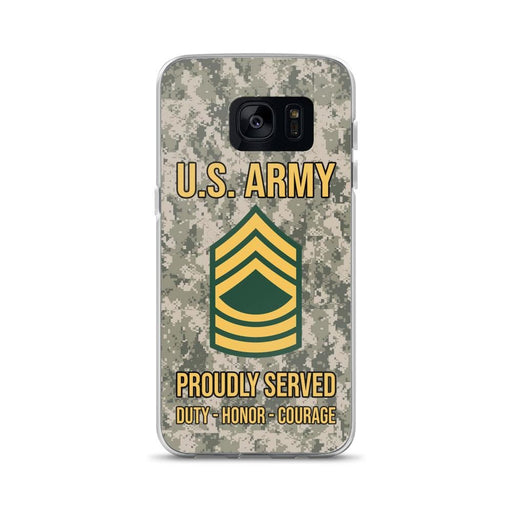 US Army E-8 Master Sergeant E8 MSG Noncommissioned Officer Ranks  Samsung Case