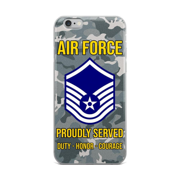 US Air Force E-7 Master Sergeant MSgt E7 Noncommissioned Officer Ranks AF Rank iPhone Case