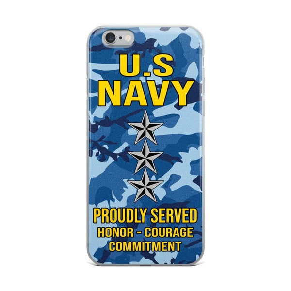 US Navy O-9 Vice Admiral O9 VADM Flag Officer Ranks iPhone Case