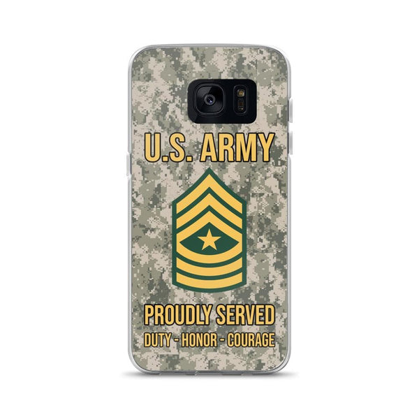 US Army E-9 Sergeant Major E9 SGM Noncommissioned Officer Ranks Samsung Case
