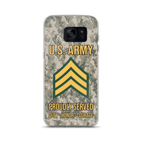 US Army E-5 Sergeant E5 SGT Noncommissioned Officer Ranks Samsung Case