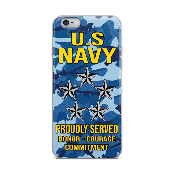 US Navy O-11 Fleet Admiral O11 FADM Flag Officer Ranks iPhone Case