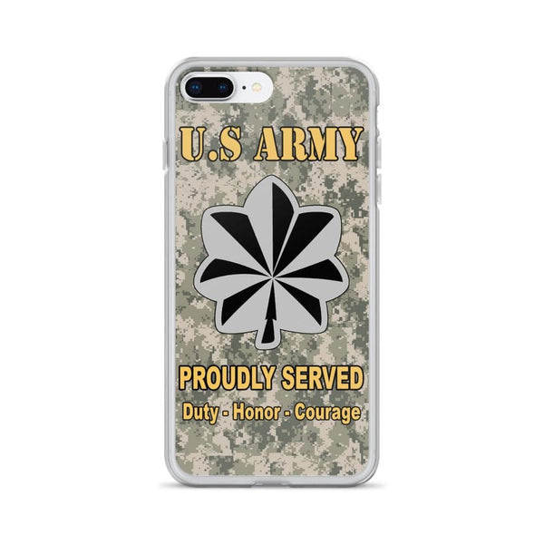US Army O-5 Lieutenant Colonel O5 LTC Field Officer Ranks iPhone Case