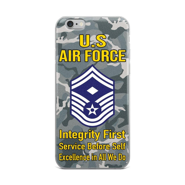 US Air Force E-8 First sergeant E-8 Rank iPhone Case