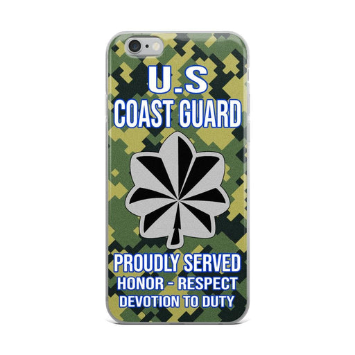 US Coast Guard O-5 Commander O5 CDR Senior Officer Ranks iPhone Case