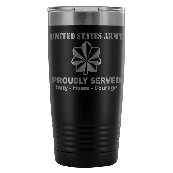 US Army O-4 Major O4 MAJ Field Officer Proudly Served - 20 Oz Ounce Vacuum Tumbler