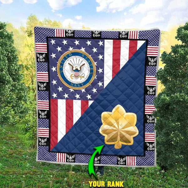 U.S Navy - Your Officer Ranks Blanket Quilt
