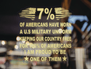7% Proud Military Clear Stickers