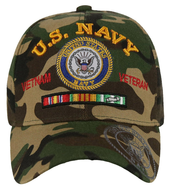 US Navy VietNam Veteran Military Hat Navy Camo