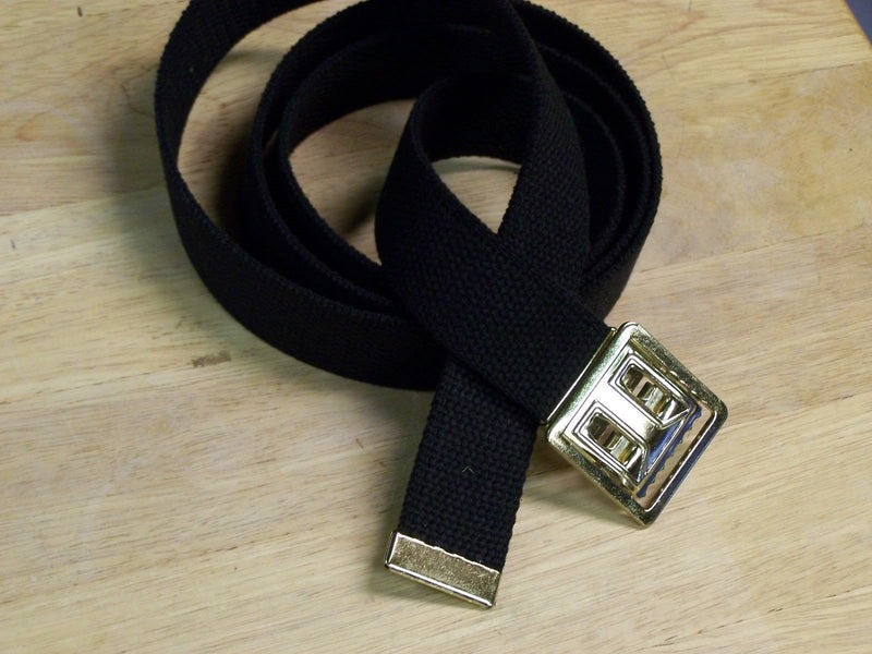 Web Belt Military Style Buckle Uniform 100% Cotton