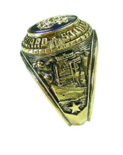 US Coast Guard 18Ktgb Signet Military Ring