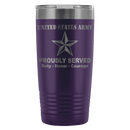 US Army O-7 Brigadier General O7 BG General Officer Proudly Served - 20 Oz Ounce Vacuum Tumbler