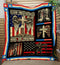 Stand for the Flag, Kneel for the Cross - U.S Veteran Blanket Quilt