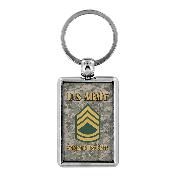 US Army E-7 Sergeant First Class E7 SFC Noncommissioned Officer Ranks Enlisted Veteran Retired Keychain