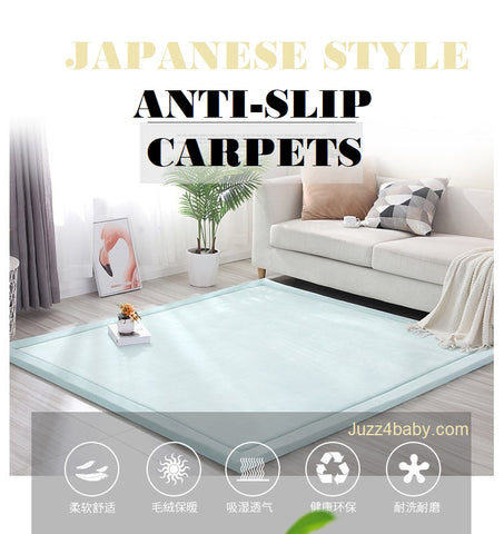 Japanese Living Room Fleece Coral Tatami Carpet - Juzz4Baby
