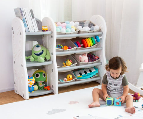 Multi Purpose Kids Toy Storage Rack + Bookshelf