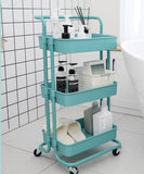 Multi-Purpose Movable Trolley with Handle Bar Kitchen Storage Rack