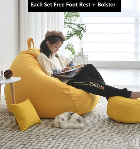 【Adult-sized 】Free delivery Bean bag Lazy Bean Bag Sofa