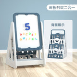 2 in 1 Multi-Functional Kids Bookshelf with Whiteboard Easel Adjustable Height