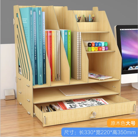 Desk Organiser Shelf Desktop Table Bookshelf Storage Office Document Rack - Juzz4Baby