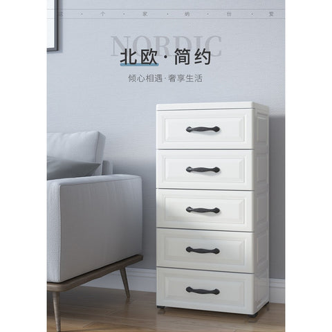 3 Tiers / 5 Tiers Storage Cabinet Drawers Bedside Table