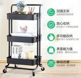 Multi-Purpose Movable Trolley with Handle Bar Kitchen Storage Rack - Juzz4Baby