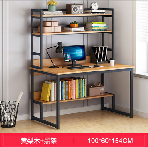 Storage Table Computer Desk Laptop Office Table with Bookshelf - Juzz4Baby