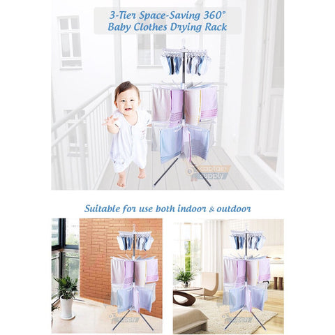 360 -3 Tiers baby clothes rack - Juzz4Baby