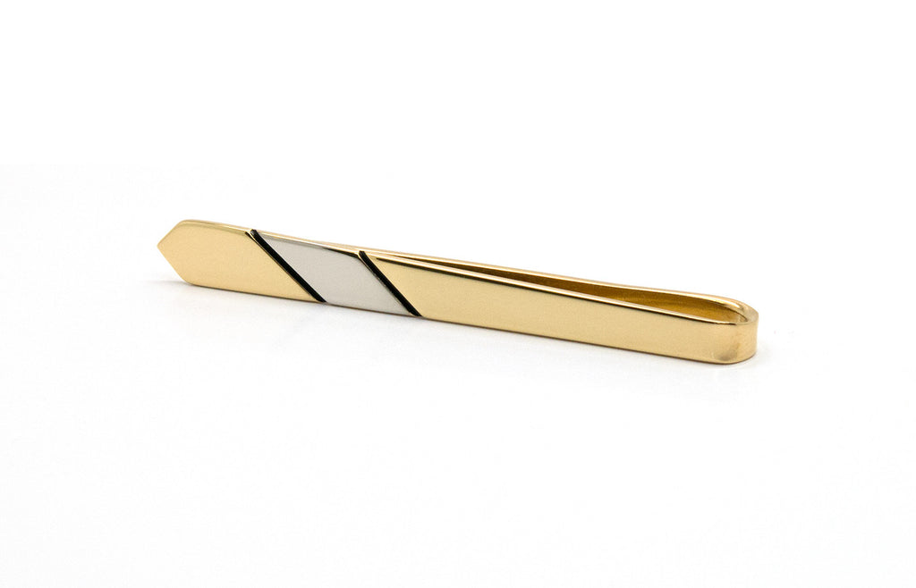 Cravate Two Tone Gold Tie Bar