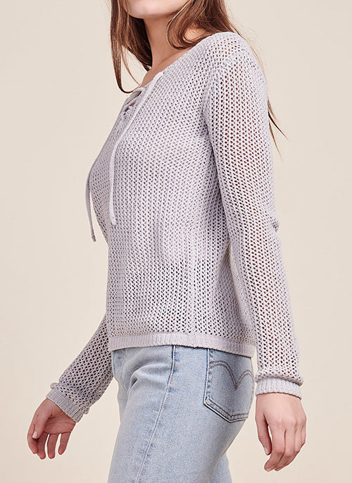Lily Lace Up Sweater