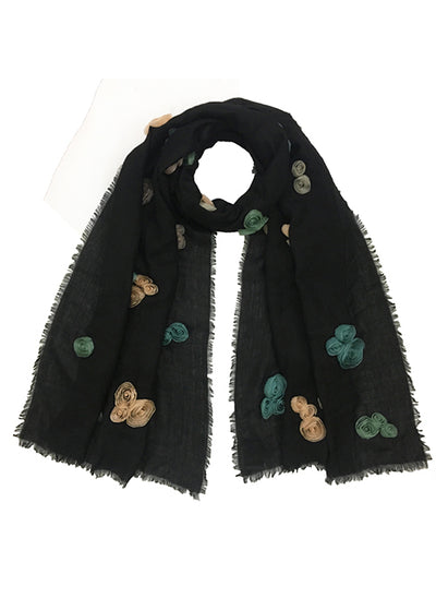 Multi Ribbon Rose Scarf