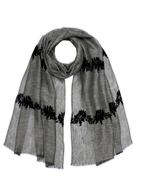 Cut Out Lace Scarf