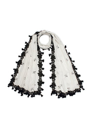 Cycle Tassel & Lace Scarf