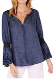 Denim Frill Top