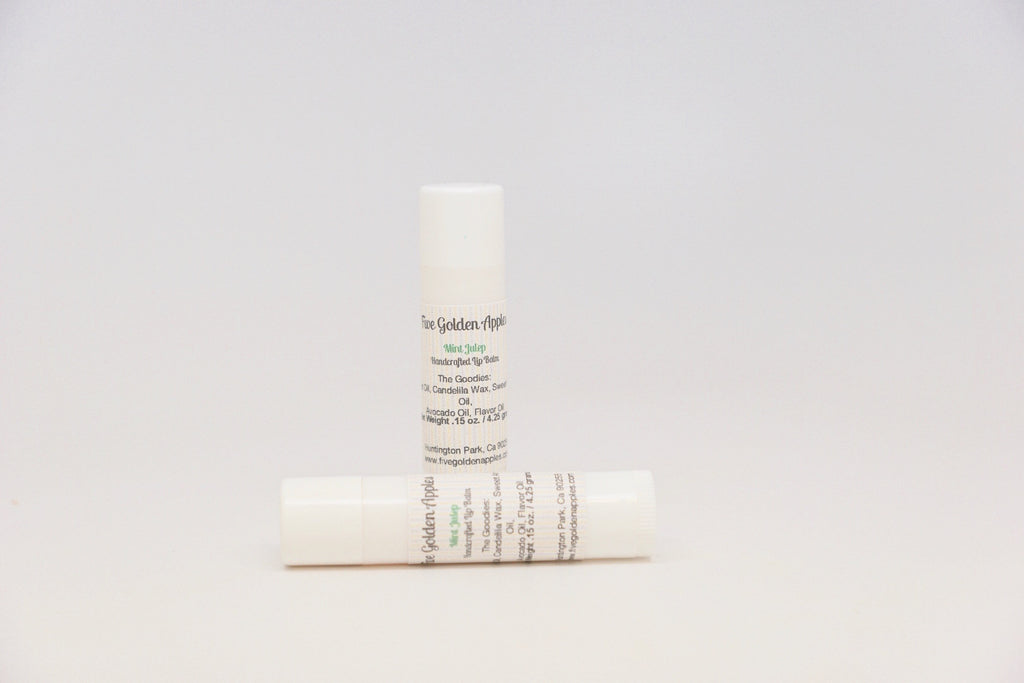 Mint Julep Lip Balm - Five Golden Apples