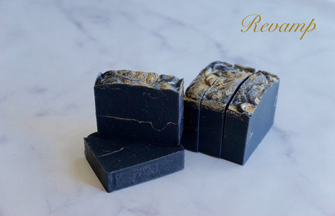 revamp-activated-charcoal-soap-essentialoils-inspire-gold-black-bar-fivegoldenapples-best-bar-artisan-handmade