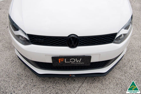 FLOW Designs VW POLO 6R GTi Front Splitter + Aero Spacer