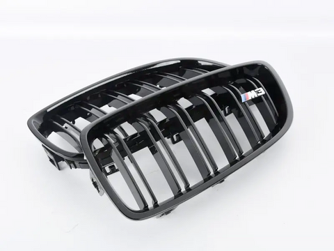 Genuine BMW M Performance / Competition Gloss Black Kidney Grilles suits M3/M4 F80/F82