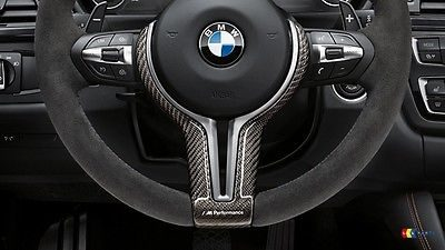 Genuine BMW M Performance Steering Wheel Trim Cover Carbon M3/M4 (F80/F82/F83)
